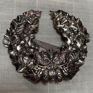 SYLVIA DAHL Butterfly Wreath Scarf - Hair Clip